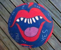 Balls Painted Mouthing Off YES (2)