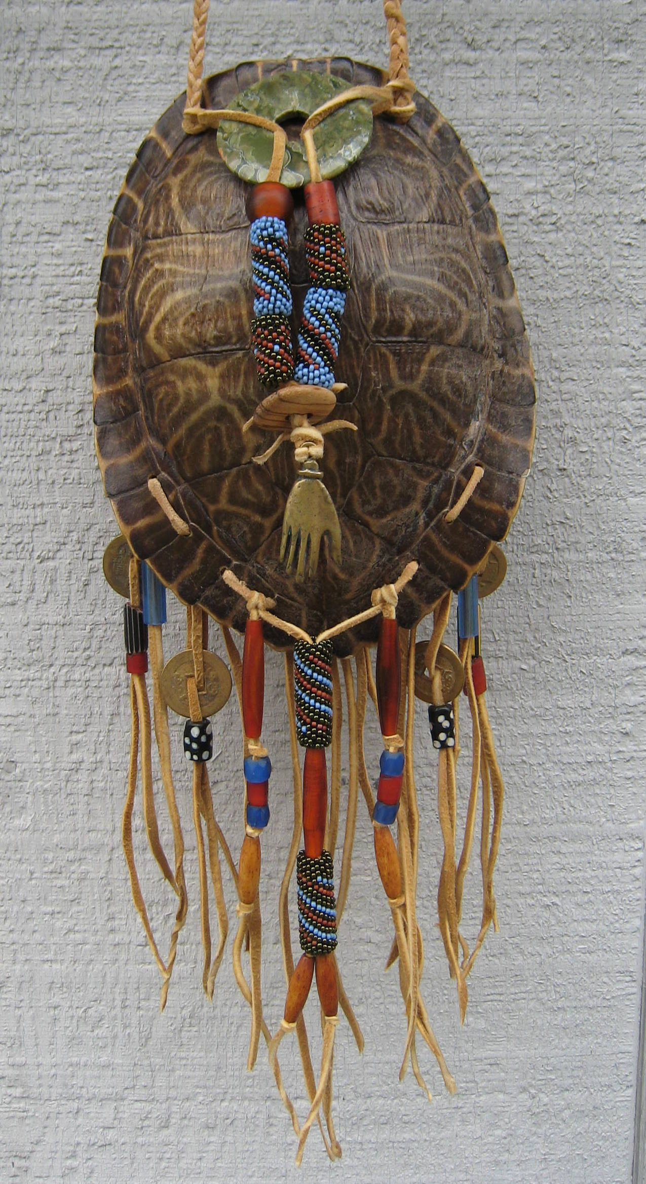 Turtle shell pouch star hand arts for How to make native american arts and crafts