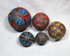 Variegated Thread Temari (1)